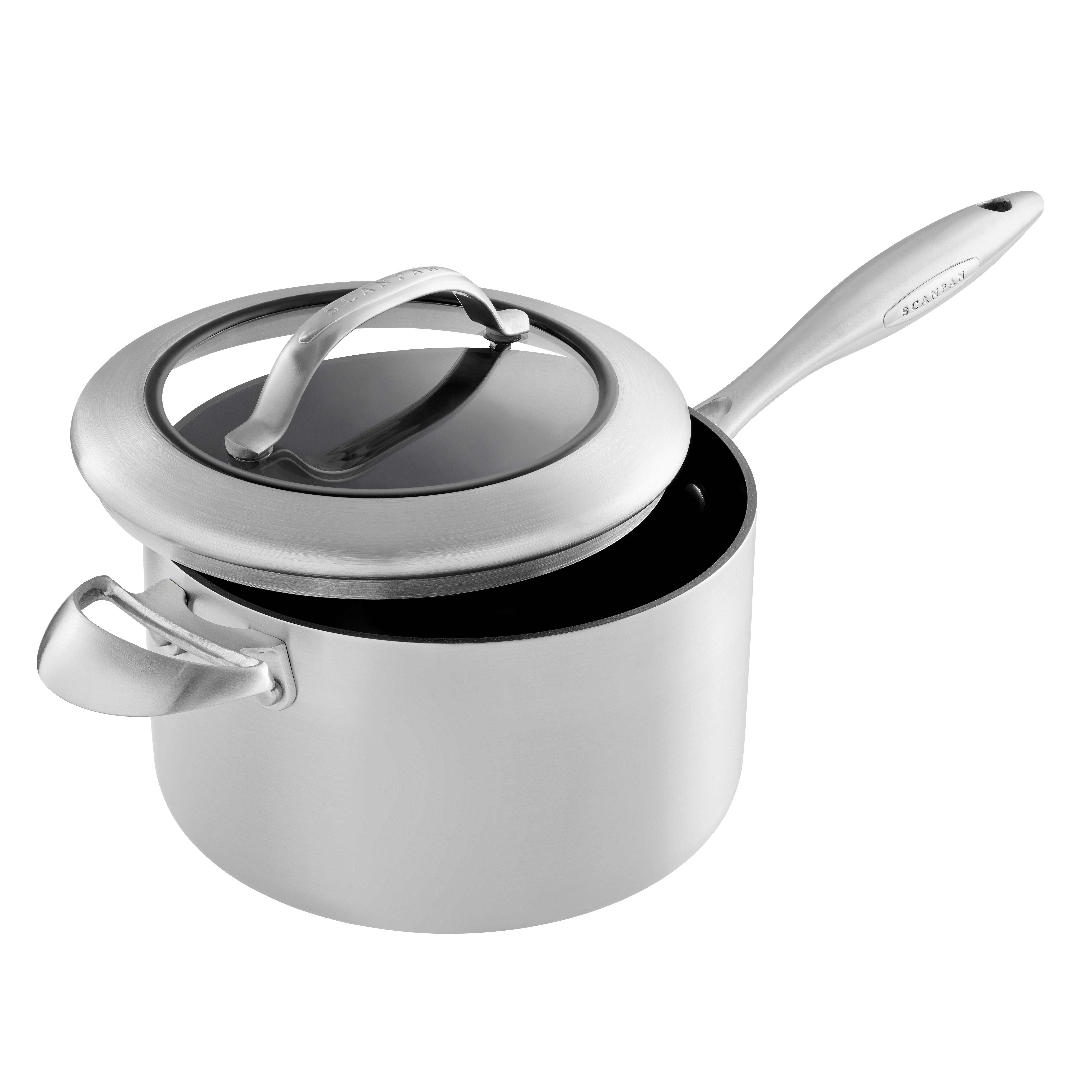 3,5l/20 cm kasserolle med glaslåg - CTX, 3,5 l 20 cm