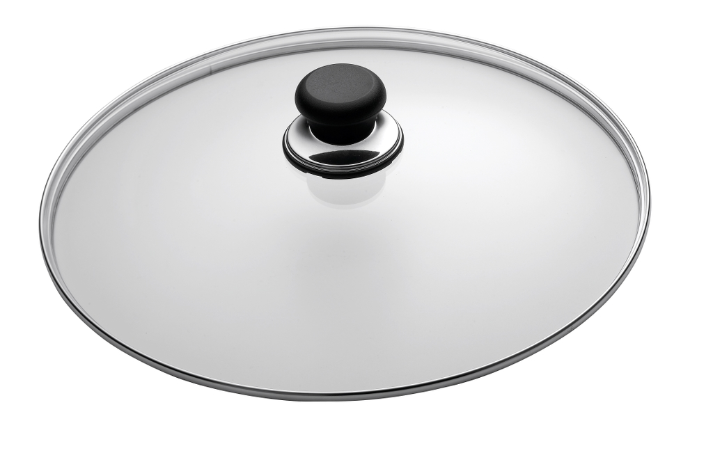 18cm Glass Lid in sleeve - Classic, 18cm