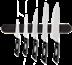 6-delt knivmagnetsæt - Classic, 6 dele